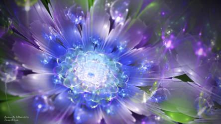 Purple Glass Flower by PaMonk
