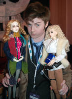 Banzaicon4 The Doctor, Rose and River by idrilkeeps