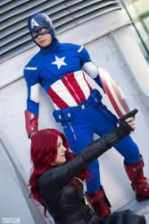 Captain America and Black Widow Cosplay III of III by idrilkeeps