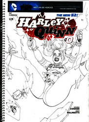 Harley Quinn rain of glass by Flashmanya