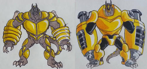 Armodrillo and Andreas Redesign by Holycrap1992