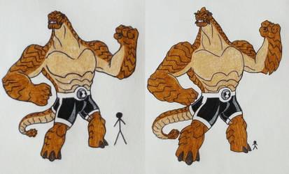 Humungosaur Redesign by Holycrap1992
