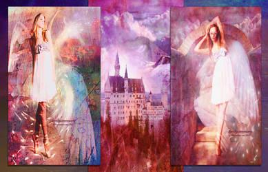 Wings of Love  Triptych by amethystmstock