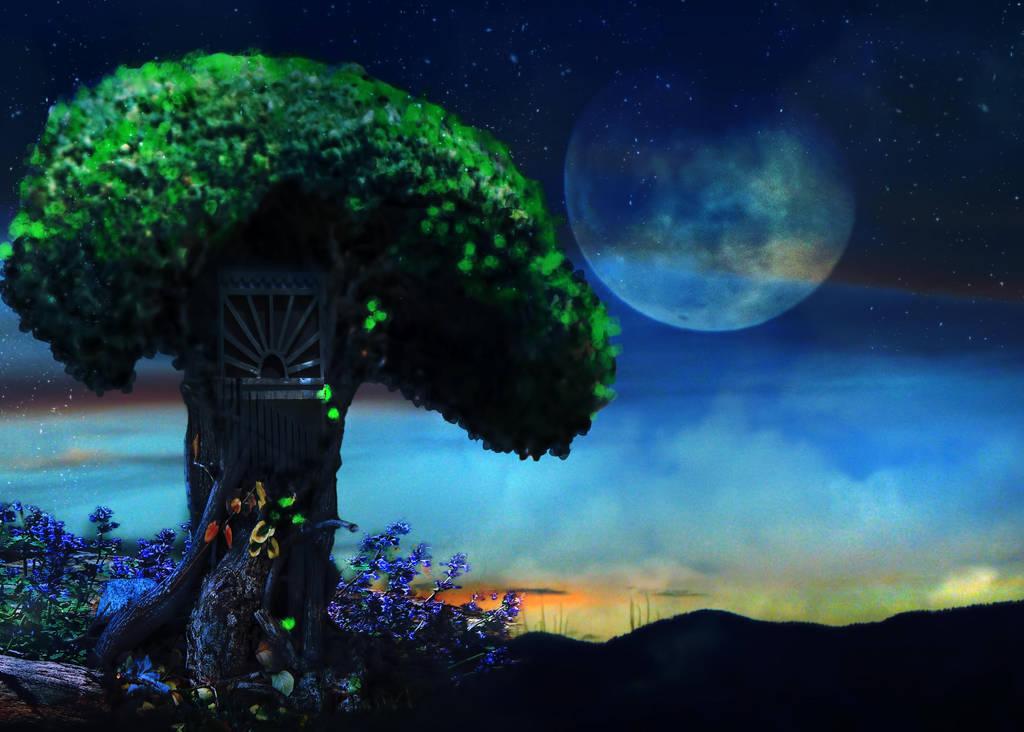 Tree House by amethystmstock