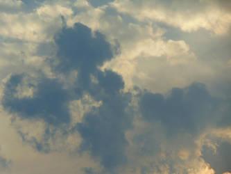 Skies Sunset Storm 001 by amethystmstock