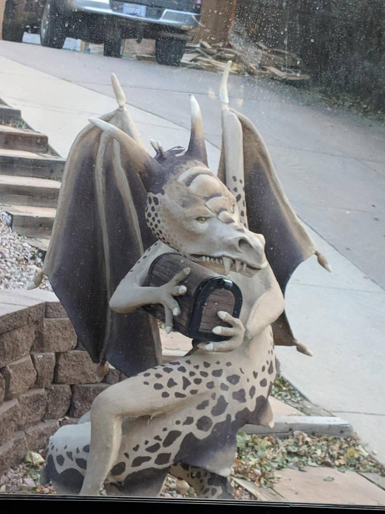 Dragon Mailbox 006 by amethystmstock