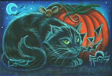 Black Spider Cat by carefulwhatyawishfor
