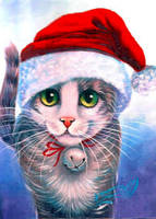 Santa Tabby by carefulwhatyawishfor