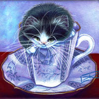 Blue Willow Tuxedo Tea Time by carefulwhatyawishfor