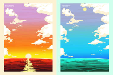 Summer Over Sea by Hickalberry
