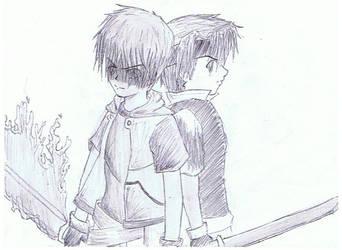 Two Swordsman by Haruka123
