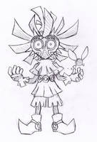 Skull kid sketch by vakurii