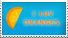 'I luv Oranges' Stamp by creativsis