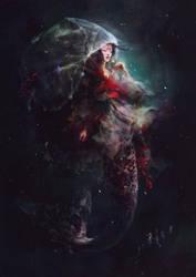 Jellyfish Mermaid by maria-menshikova