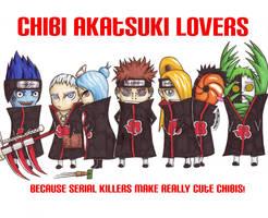 Chibi Akatsuki Lovers by KelleyArline