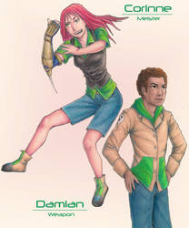 Corinne and Damian by KelleyArline