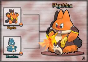 PokeFusion: Pigchlax by JT-PokeKa