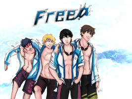 Free! Iwatobi Team by sharkRAIE