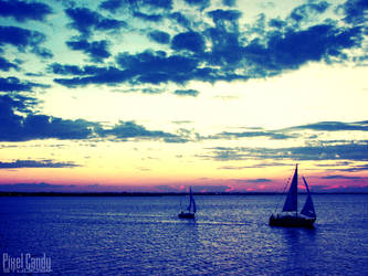 Sunset and Sails by Bethy-Go-Blah
