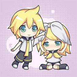 Baby Rin Len by Kaizeru