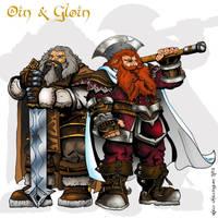 Oin and Gloin by whittingtonrhett