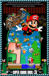 Mario Bros 3 Poster with Border by whittingtonrhett