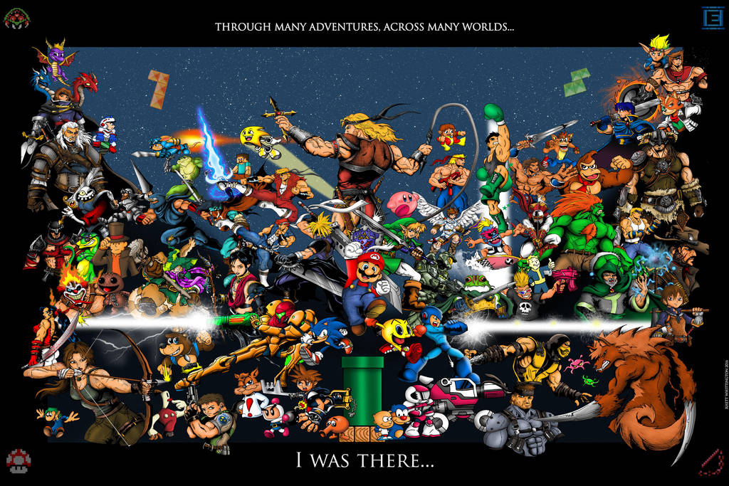 Video Game Characters Poster by whittingtonrhett