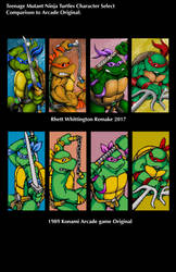 TMNT Arcade Comparison by whittingtonrhett
