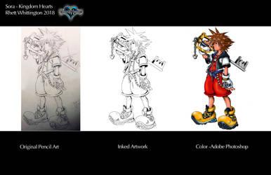 Sora Kingdom Hearts Progression by whittingtonrhett