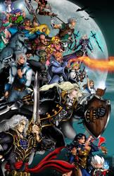 Castlevania Side Heroes Poster by whittingtonrhett