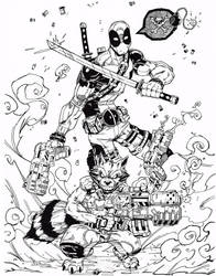 Deadpool Ink by keithv1981