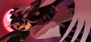 Stickart Commission : Raven (Guilty Gear) by dudeunderscore