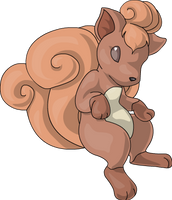 Vulpix for my gaia shop by jessijoke
