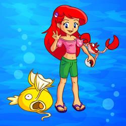 Pokemon Trainer Princess Ariel by jessijoke