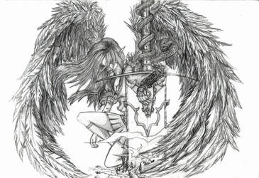Angelic Contemplation - pencil by don-marko