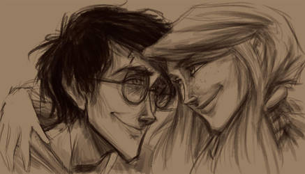Harry and Ginny WIP Pencil by keepsake20