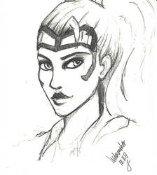Widowmaker quick pencil sketch by Nyradir