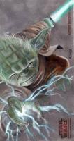 Yoda Clone Wars Card by kohse