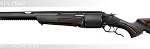 HEX DUO (revolving double barrel shotgun) by LucasHC90