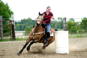 New Germany: Barrel Racer - 1 by iheartcow