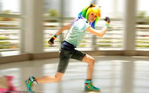 High Speed Rainbow Dash Attack by agentsakur9