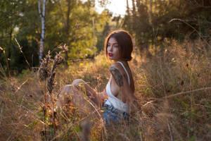Natt - golden hour girl by bagnino