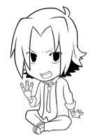 KHR: Chibi Gokudera Lineart by OukaSakazaki