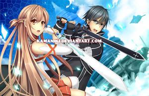 Sword Art Online: Asuna and Kirito by Kamaniki