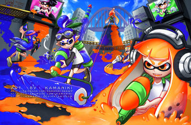 Splatoon: Git SPLATTED by Kamaniki