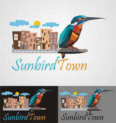 Sunbird Town Logo Option - 01 by kkashifkhawaja