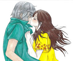 Couple: Suprise Kiss by Fwup-Baby