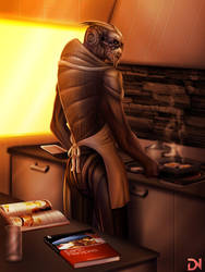 Turian Breakfast by dream-and-nightmare