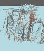 Logan and Remy by JamesTheShark
