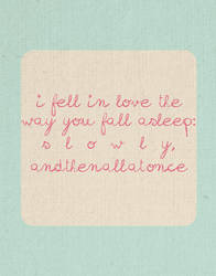 tfios - I fell in love the way you fall asleep by TheMindThatWanders